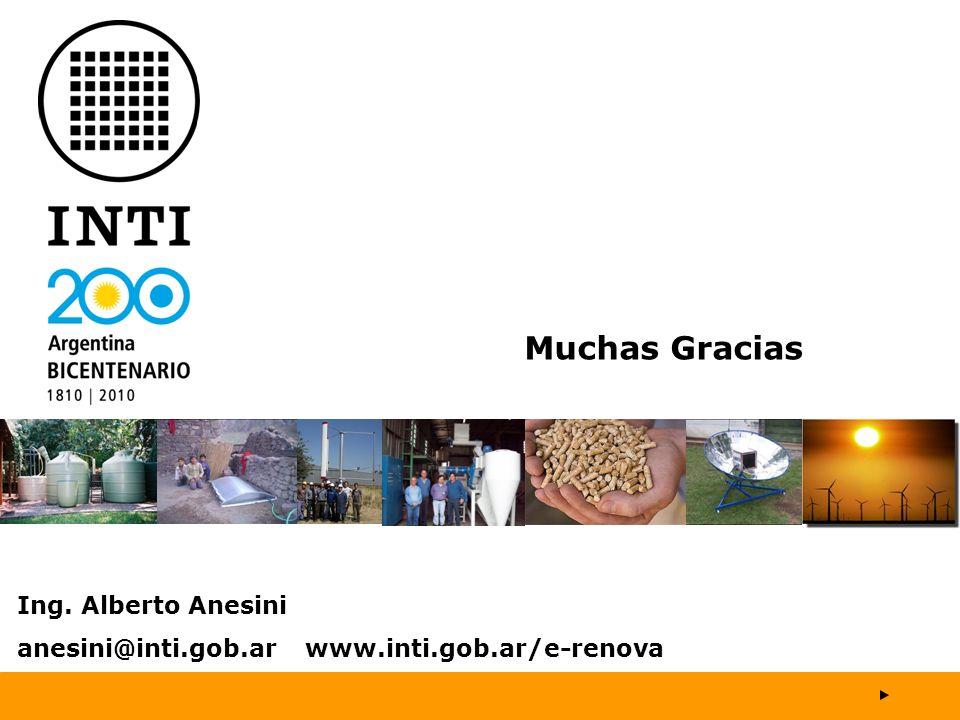 Muchas Gracias Ing. Alberto Anesini anesini@inti.gob.ar www.inti.gob.ar/e-renova