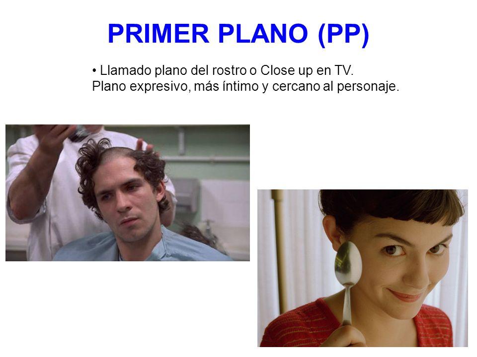 PRIMER PLANO (PP) Llamado plano del rostro o Close up en TV. Plano expresivo, más íntimo y cercano al personaje.