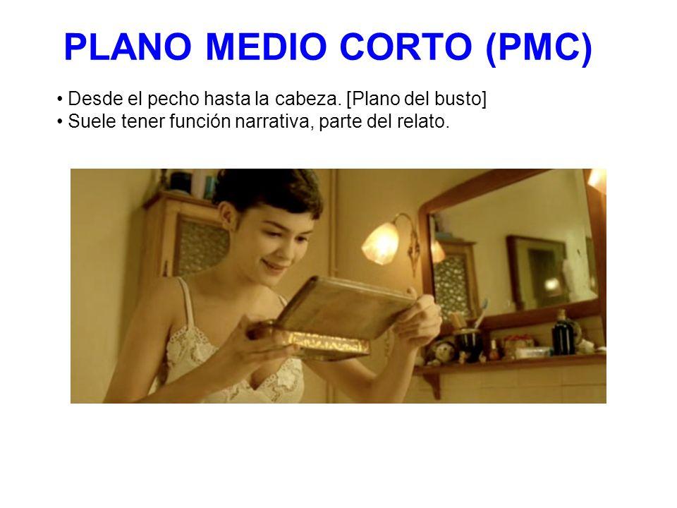 PLANO MEDIO CORTO (PMC) Desde el pecho hasta la cabeza.