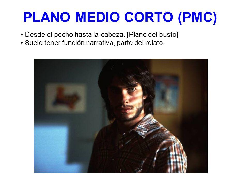 PLANO MEDIO CORTO (PMC) Desde el pecho hasta la cabeza. [Plano del busto] Suele tener función narrativa, parte del relato.