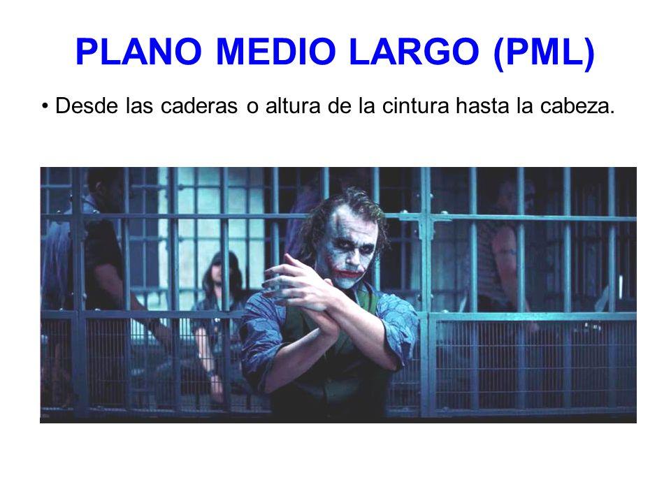 PLANO MEDIO LARGO (PML) Desde las caderas o altura de la cintura hasta la cabeza.