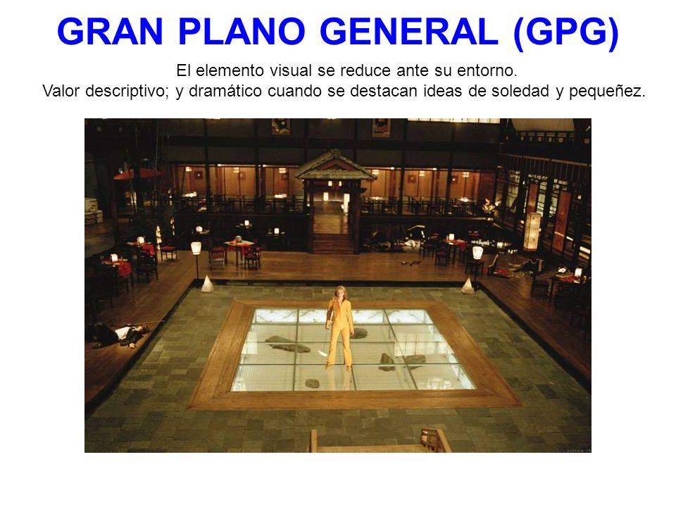 GRAN PLANO GENERAL (GPG) El elemento visual se reduce ante su entorno.