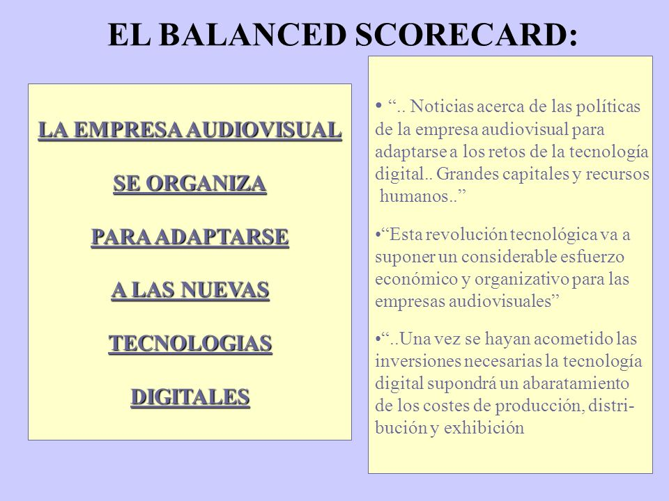 EL BALANCED SCORECARD:..