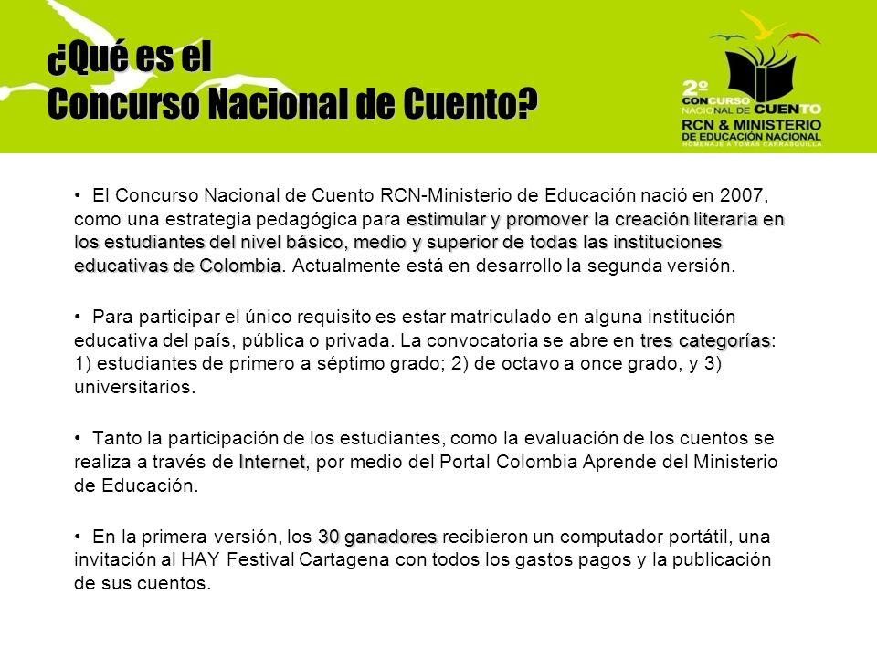Objetivos Promover la escritura creativa en instituciones educativas de todo el país.