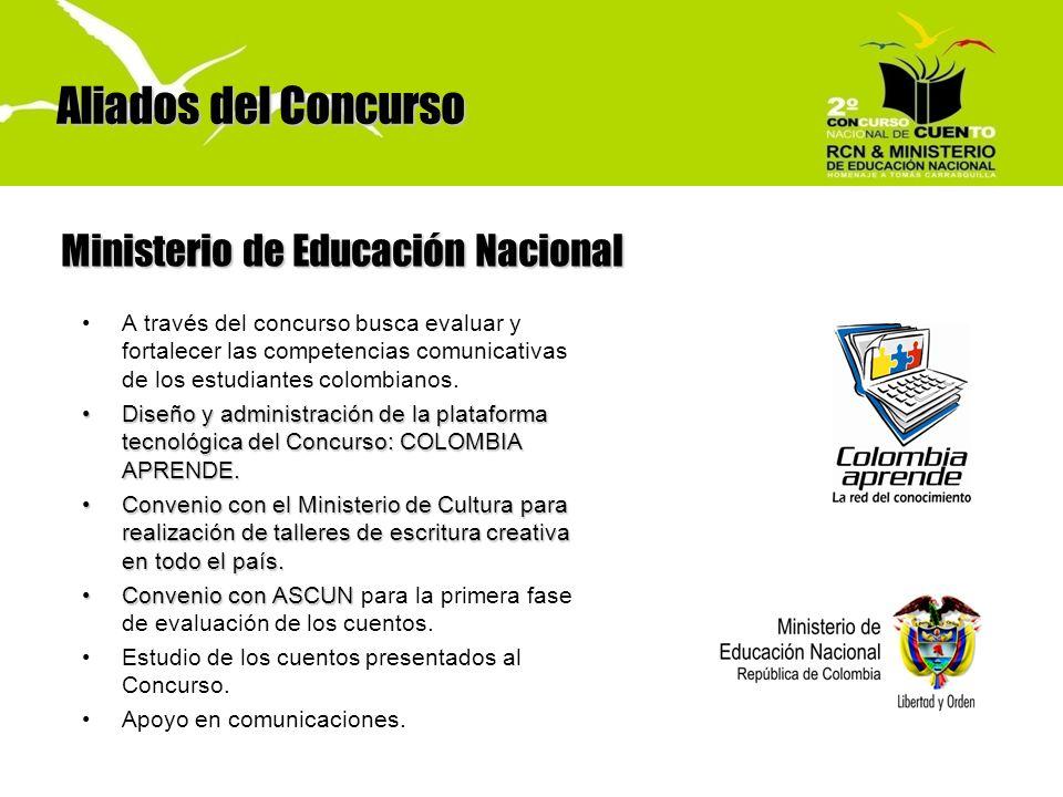 A través del concurso busca evaluar y fortalecer las competencias comunicativas de los estudiantes colombianos. Diseño y administración de la platafor