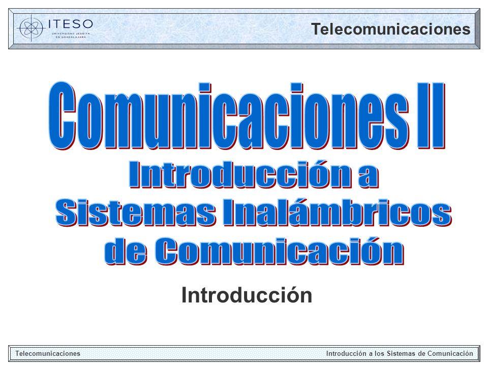 Sistema de Comunicación Telecomunicaciones Introducción a los Sistemas de Comunicación Transmisión de Información entre dos puntos a través de ondas electromagnéticas