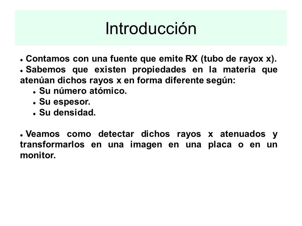 Introducción Contamos con una fuente que emite RX (tubo de rayox x).
