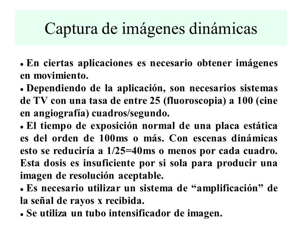 Captura de imágenes dinámicas En ciertas aplicaciones es necesario obtener imágenes en movimiento.