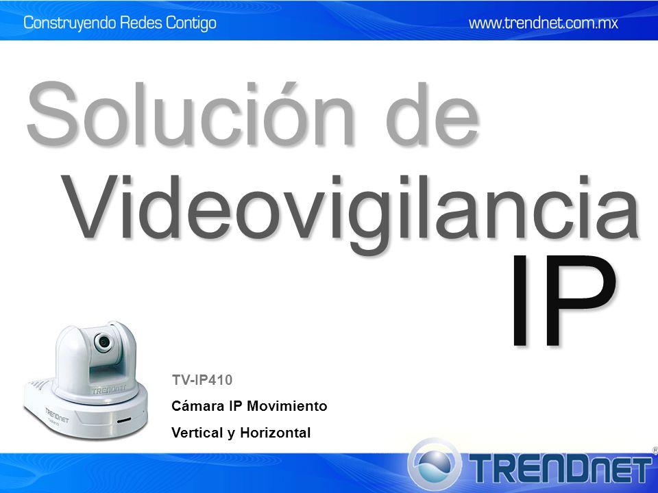 Videovigilancia IP Solución de TV-IP410 Cámara IP Movimiento Vertical y Horizontal