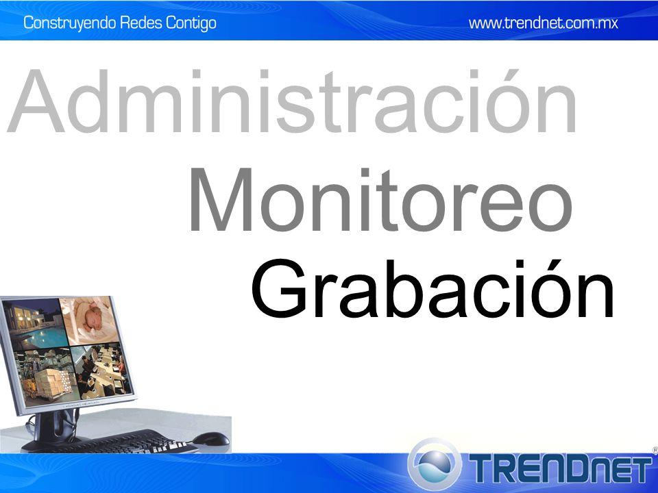 Monitoreo Administración Grabación