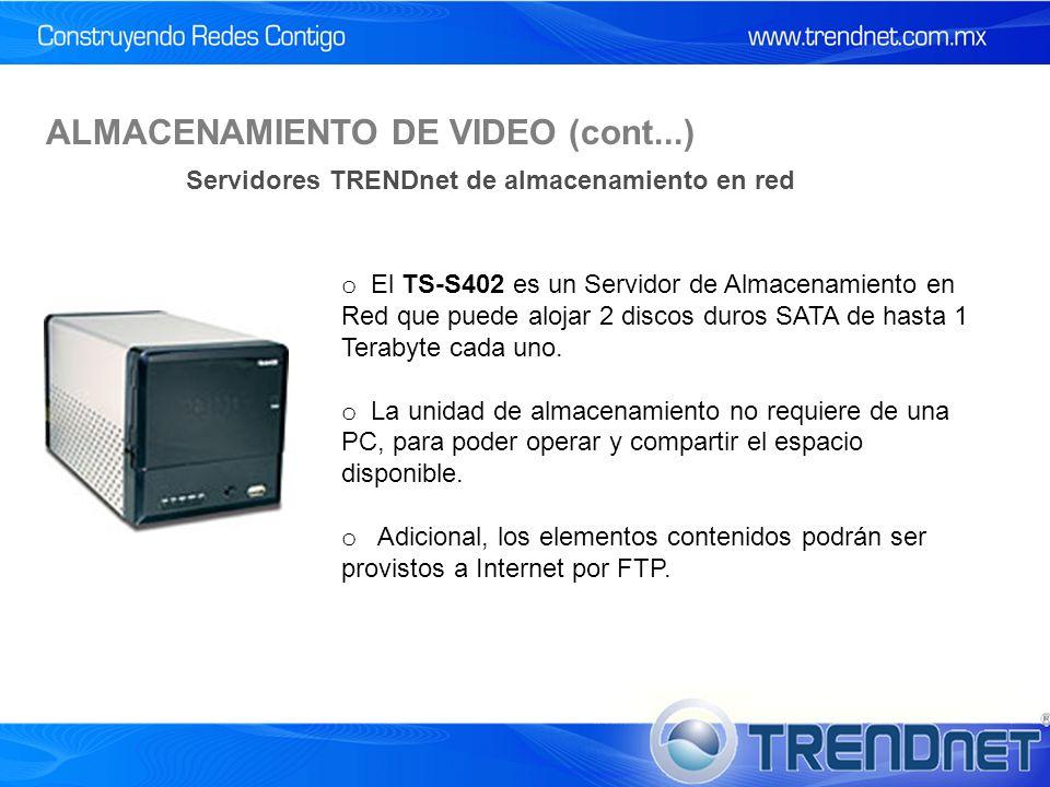 o El TS-S402 es un Servidor de Almacenamiento en Red que puede alojar 2 discos duros SATA de hasta 1 Terabyte cada uno.