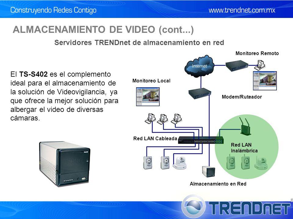 El TS-S402 es el complemento ideal para el almacenamiento de la solución de Videovigilancia, ya que ofrece la mejor solución para albergar el video de diversas cámaras.