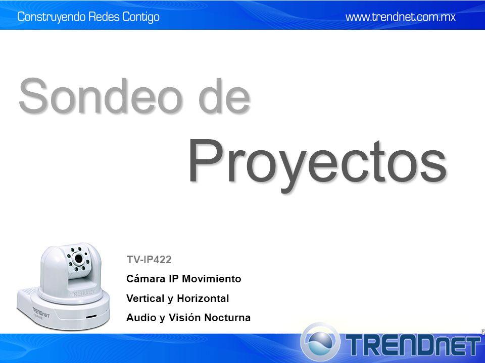 Proyectos Sondeo de TV-IP422 Cámara IP Movimiento Vertical y Horizontal Audio y Visión Nocturna