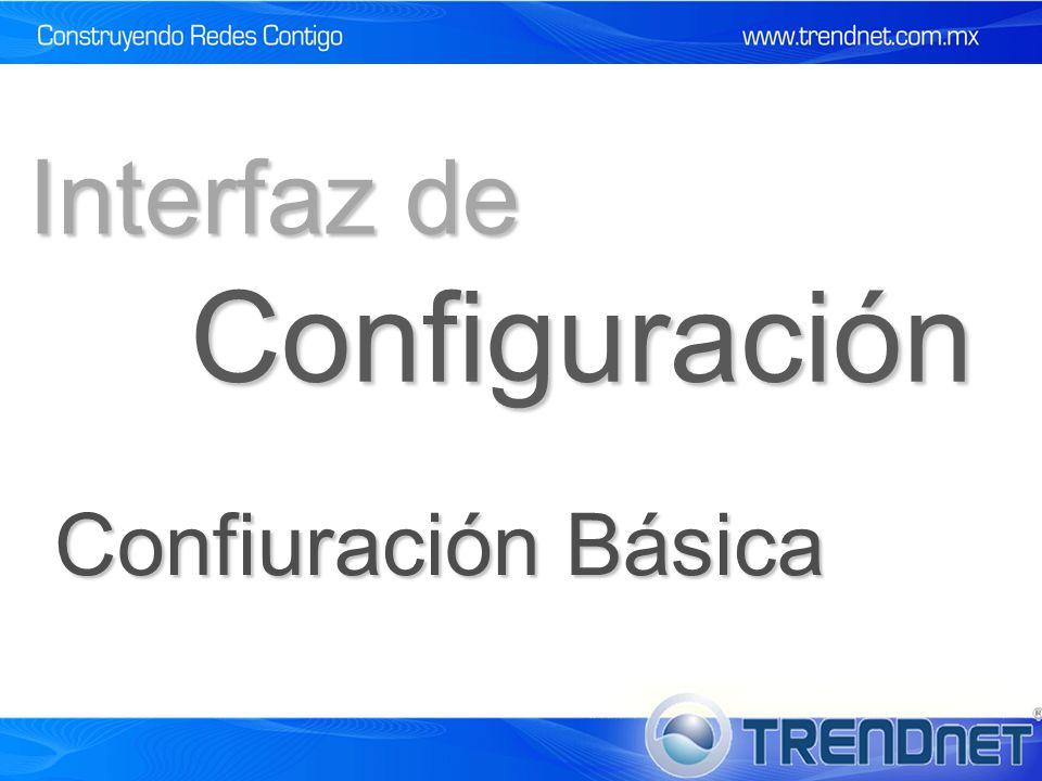 Configuración Interfaz de Confiuración Básica
