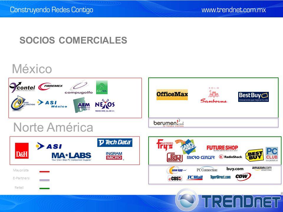 Norte América México Mayorista E-Partners Retail SOCIOS COMERCIALES