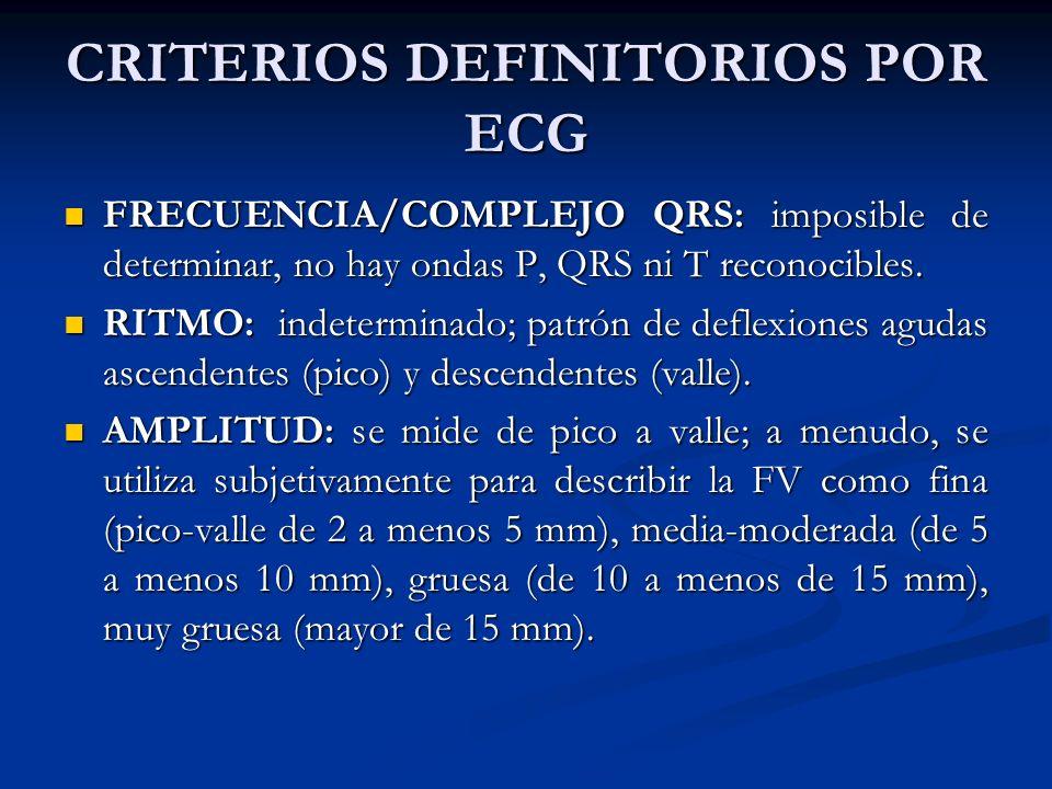 MANIFESTACIONES CLINICAS El pulso desaparece al comenzar la FV.