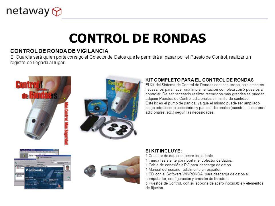 CONTROL DE RONDAS KIT COMPLETO PARA EL CONTROL DE RONDAS El Kit del Sistema de Control de Rondas contiene todos los elementos necesarios para hacer un