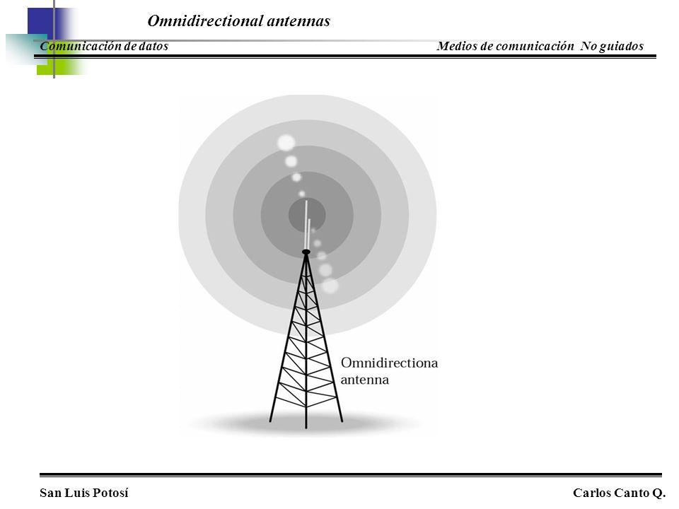 Omnidirectional antennas San Luis PotosíCarlos Canto Q. Comunicación de datosMedios de comunicación No guiados