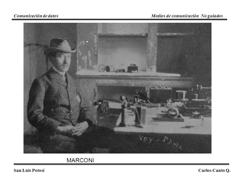 MARCONI San Luis PotosíCarlos Canto Q. Comunicación de datosMedios de comunicación No guiados