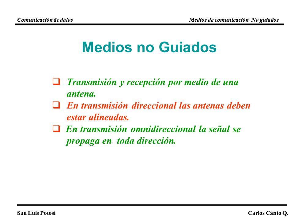San Luis PotosíCarlos Canto Q. Comunicación de datosMedios de comunicación No guiados San Luis PotosíCarlos Canto Q. Comunicación de datosMedios de co