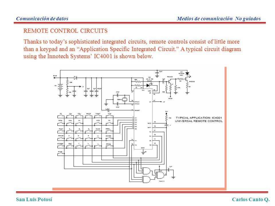 San Luis PotosíCarlos Canto Q. Comunicación de datosMedios de comunicación No guiados REMOTE CONTROL CIRCUITS Thanks to todays sophisticated integrate
