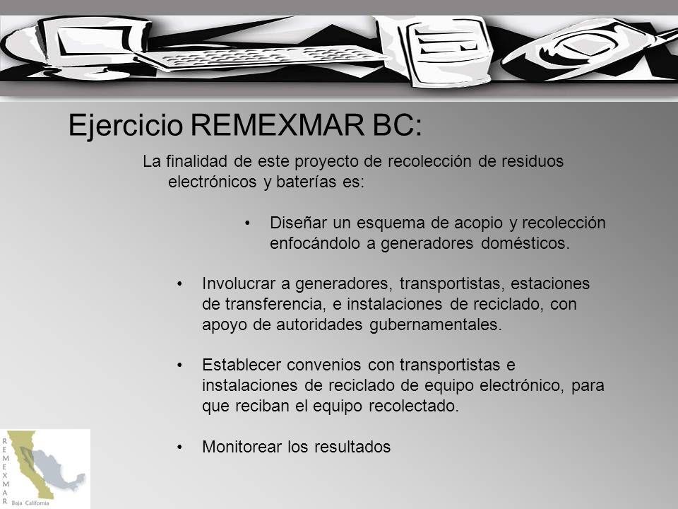 La finalidad de este proyecto de recolección de residuos electrónicos y baterías es: Diseñar un esquema de acopio y recolección enfocándolo a generadores domésticos.
