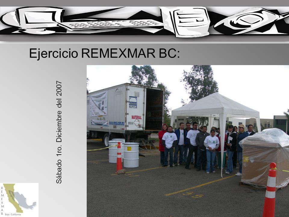 Ejercicio REMEXMAR BC: Sábado 1ro. Diciembre del 2007