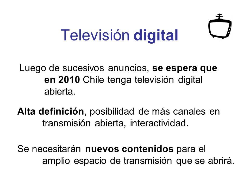 Televisión digital Se necesitarán nuevos contenidos para el amplio espacio de transmisión que se abrirá.
