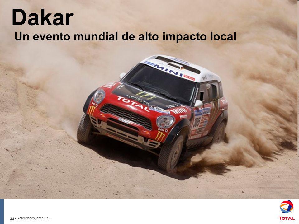 22 - Références, date, lieu Dakar Un evento mundial de alto impacto local