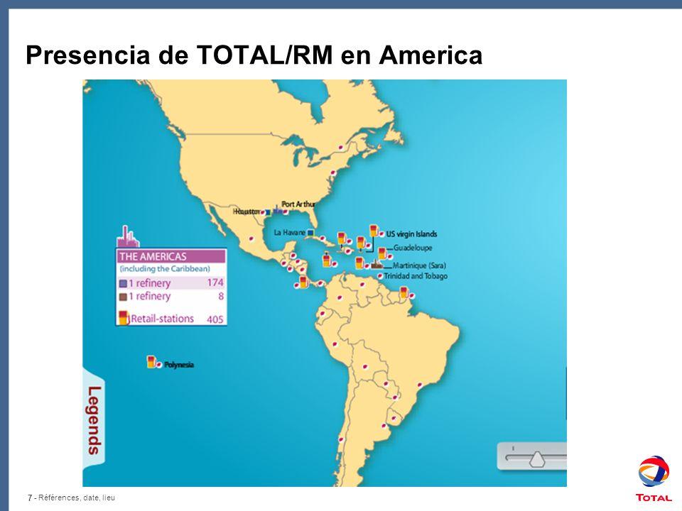 7 - Références, date, lieu Presencia de TOTAL/RM en America