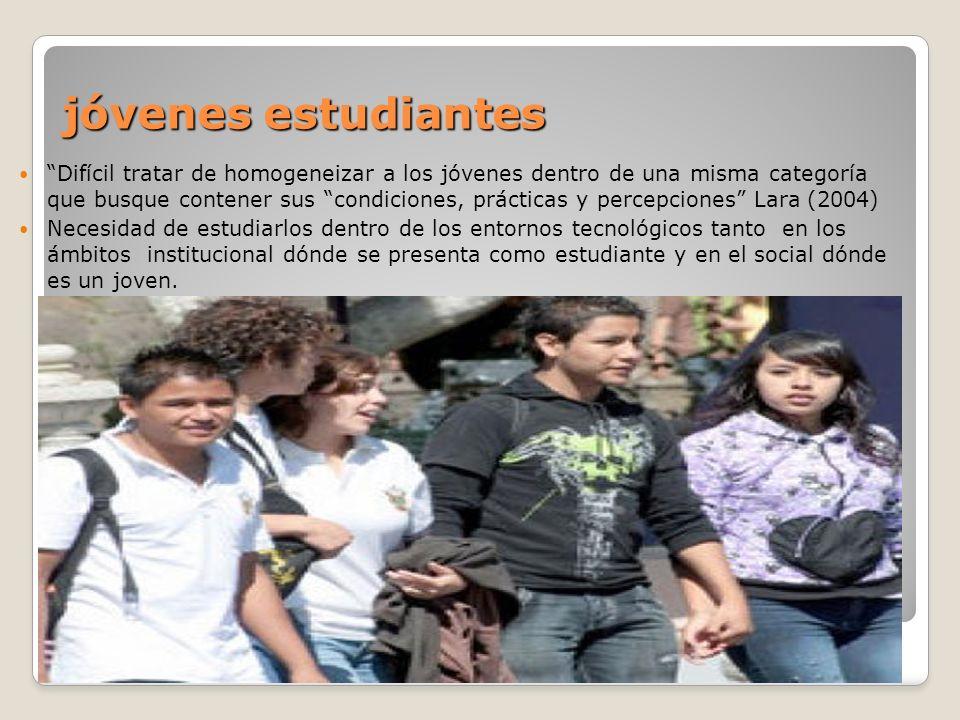 jóvenes estudiantes jóvenes estudiantes Difícil tratar de homogeneizar a los jóvenes dentro de una misma categoría que busque contener sus condiciones