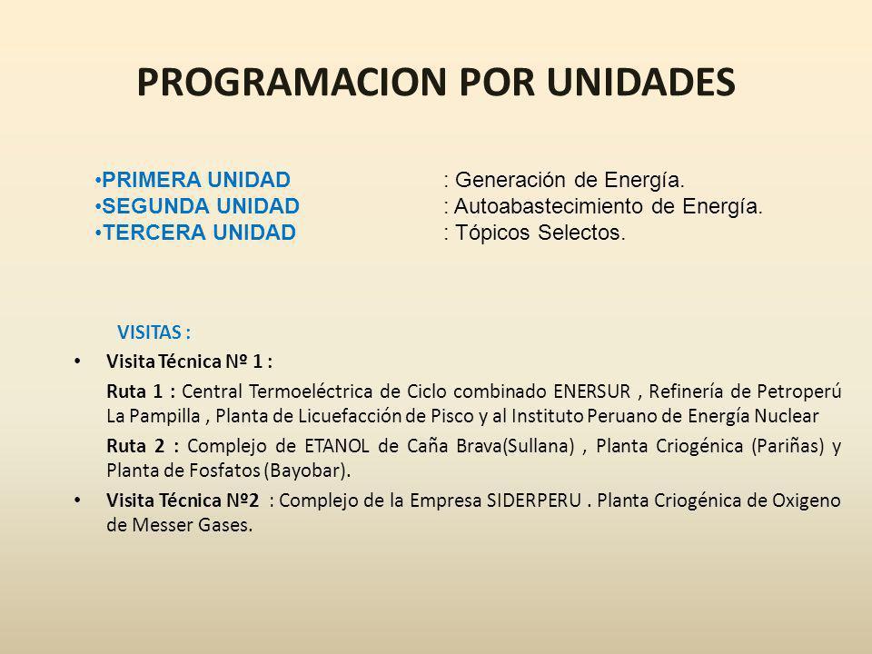 I UNIDAD : GENERACION DE ENERGIA Semana Nº1: Ciclos Combinados.