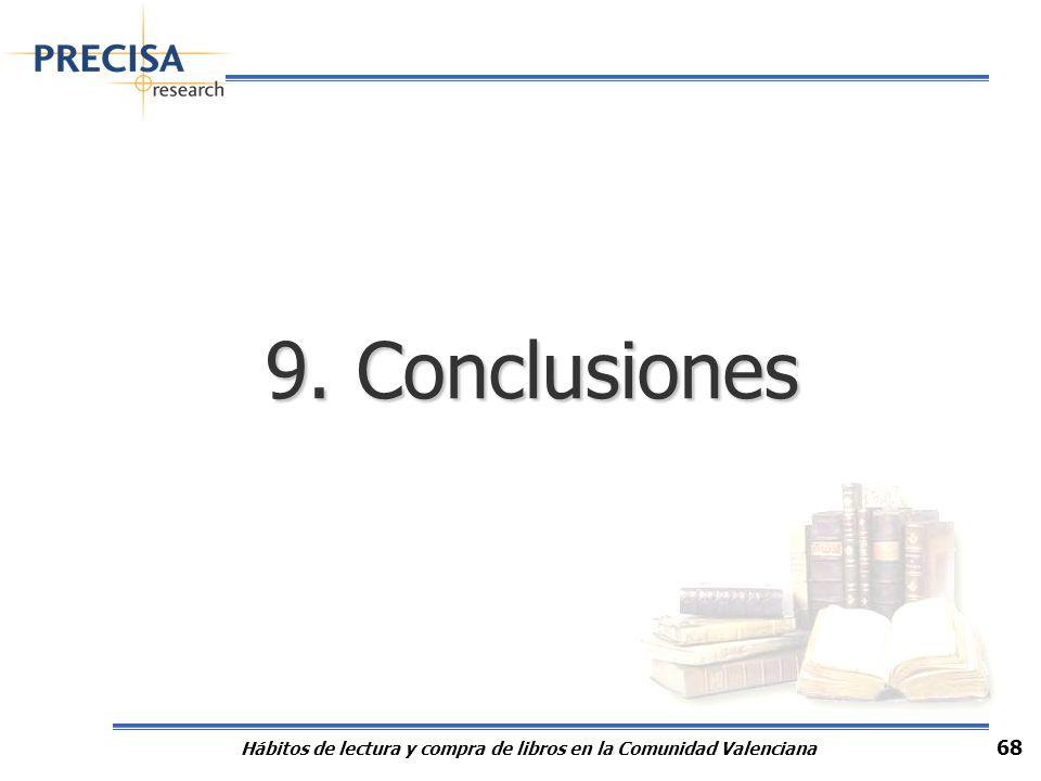 Hábitos de lectura y compra de libros en la Comunidad Valenciana 68 9. Conclusiones