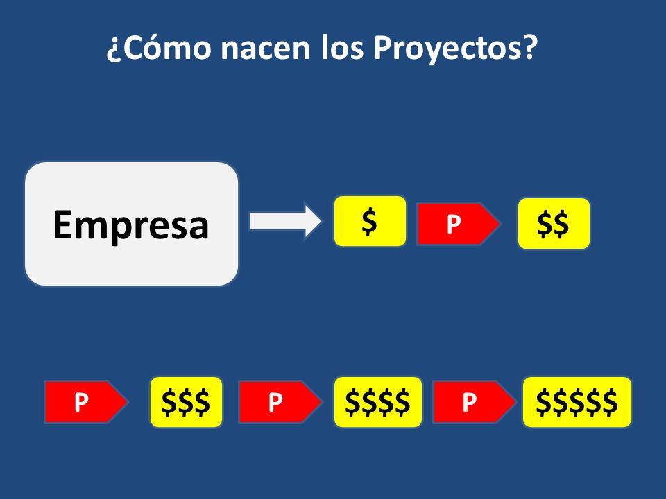 $ $$ $$$$$$$ ¿Cómo nacen los Proyectos? P PP $$$$$ P