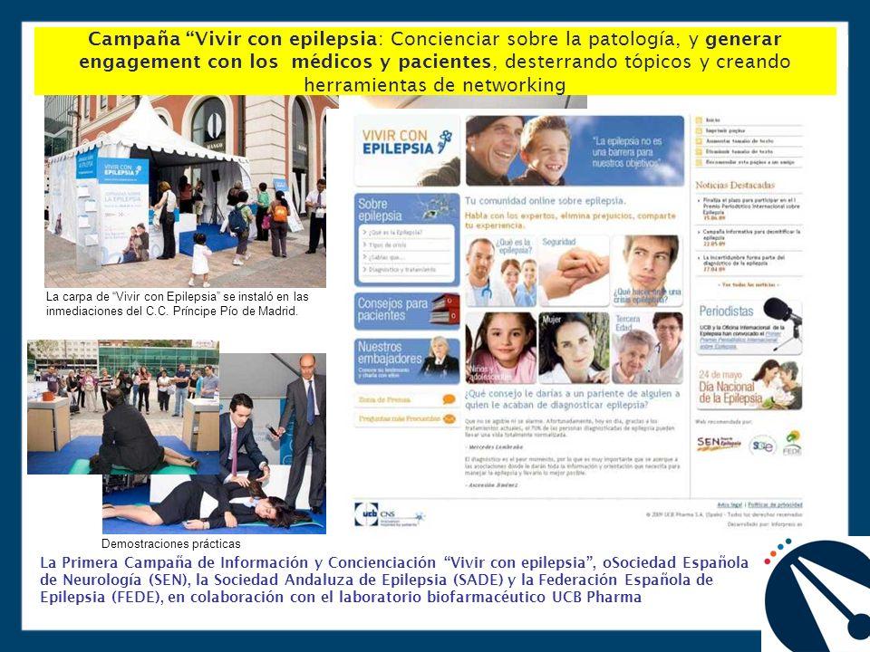 La carpa de Vivir con Epilepsia se instaló en las inmediaciones del C.C.
