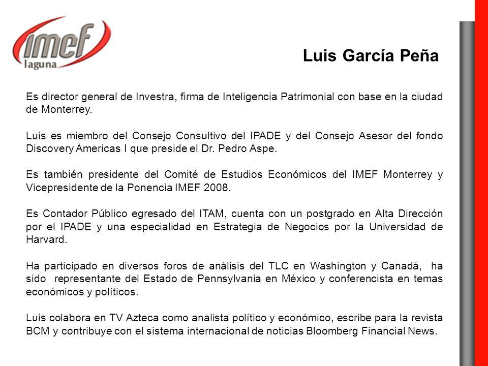 Es director general de Investra, firma de Inteligencia Patrimonial con base en la ciudad de Monterrey.