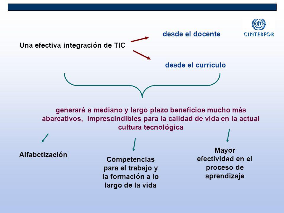Una efectiva integración de TIC generará a mediano y largo plazo beneficios mucho más abarcativos, imprescindibles para la calidad de vida en la actua
