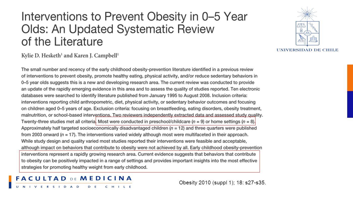 Obesity 2010 (suppl 1); 18: s27-s35.