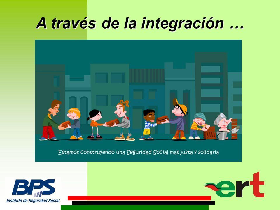 A través de la integración …