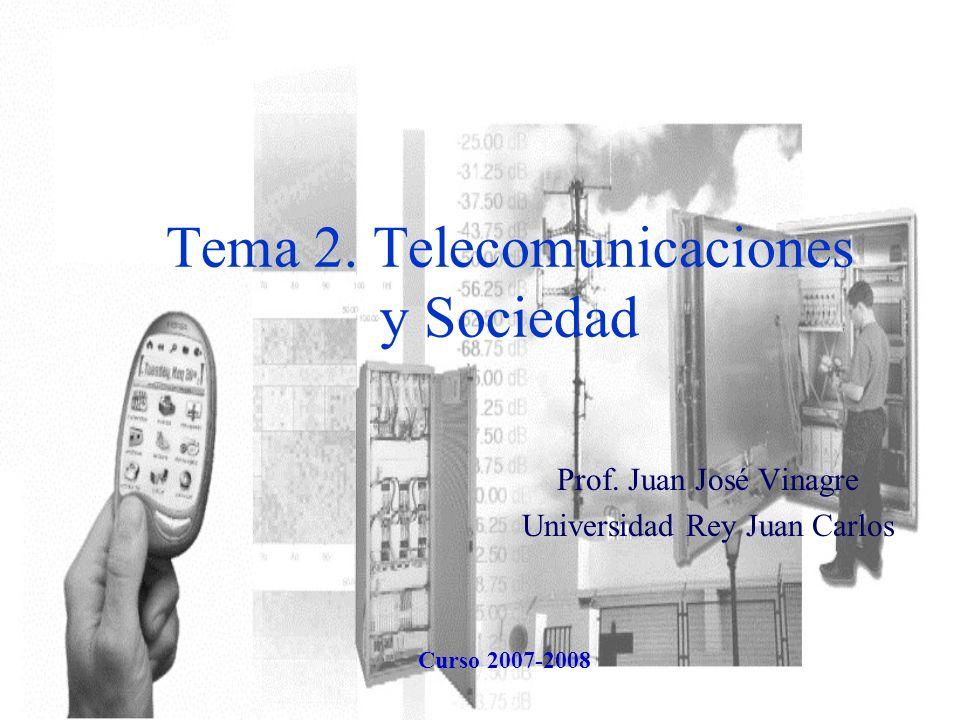 Tema 2.Telecomunicaciones y Sociedad Prof.
