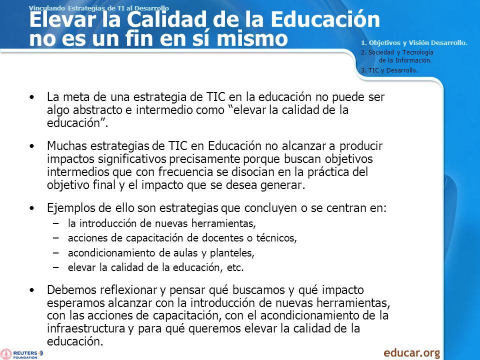 Acciones en una Estrategia de TI en Educación para el Desarrollo 4.