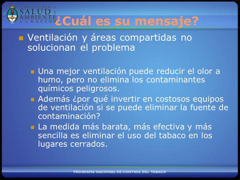 Ventilación y áreas compartidas no solucionan el problema Una mejor ventilación puede reducir el olor a humo, pero no elimina los contaminantes químic