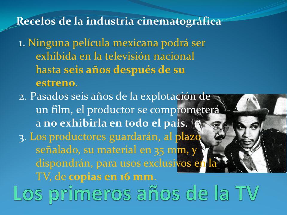 Recelos de la industria cinematográfica 1.