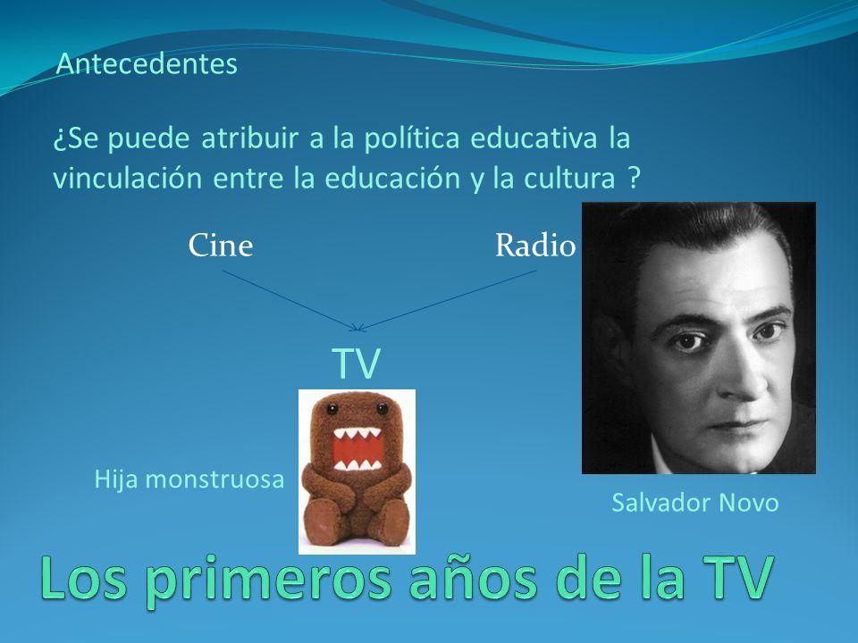 Antecedentes Salvador Novo quedó nombrado presidente de la Comisión de Televisión del INBA y el ingeniero González Camarena lo acompañó para recoger datos técnicos .