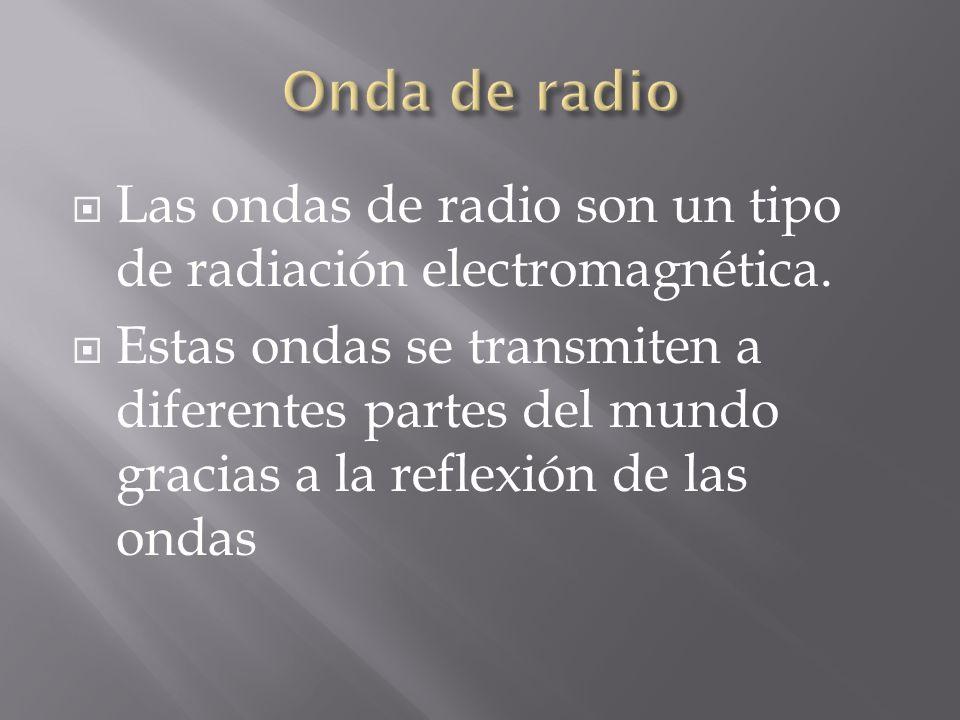 Las ondas de radio son un tipo de radiación electromagnética. Estas ondas se transmiten a diferentes partes del mundo gracias a la reflexión de las on