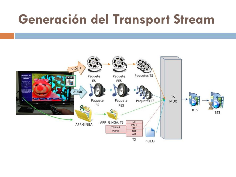 Generación del Transport Stream