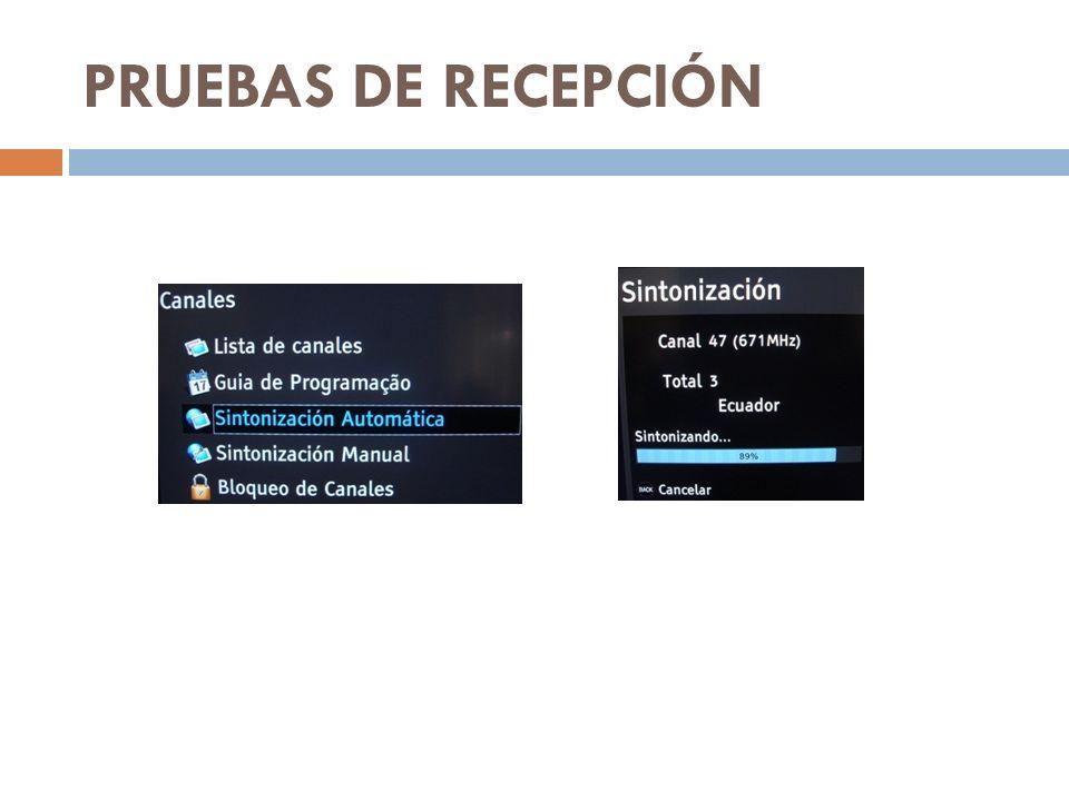 PRUEBAS DE RECEPCIÓN