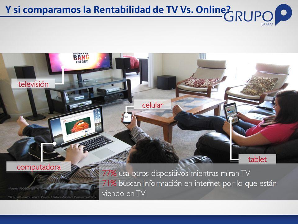 Y si comparamos la Rentabilidad de TV Vs. Online?