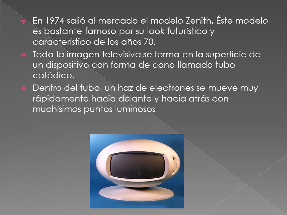 En 1974 salió al mercado el modelo Zenith. Éste modelo es bastante famoso por su look futurístico y característico de los años 70. Toda la imagen tele