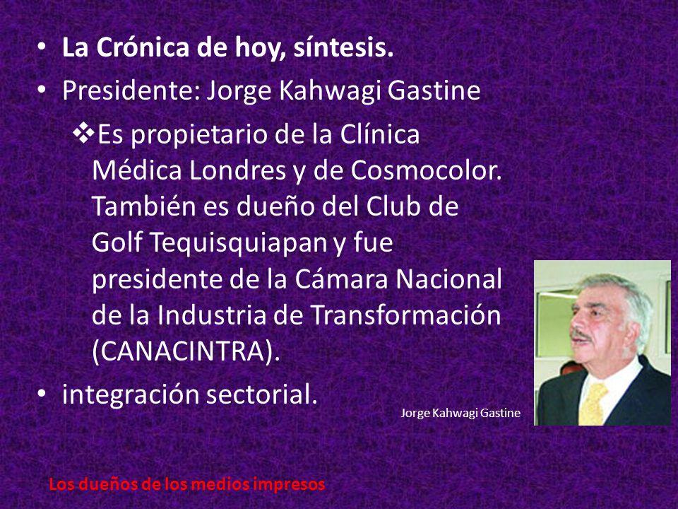 La Crónica de hoy, síntesis.